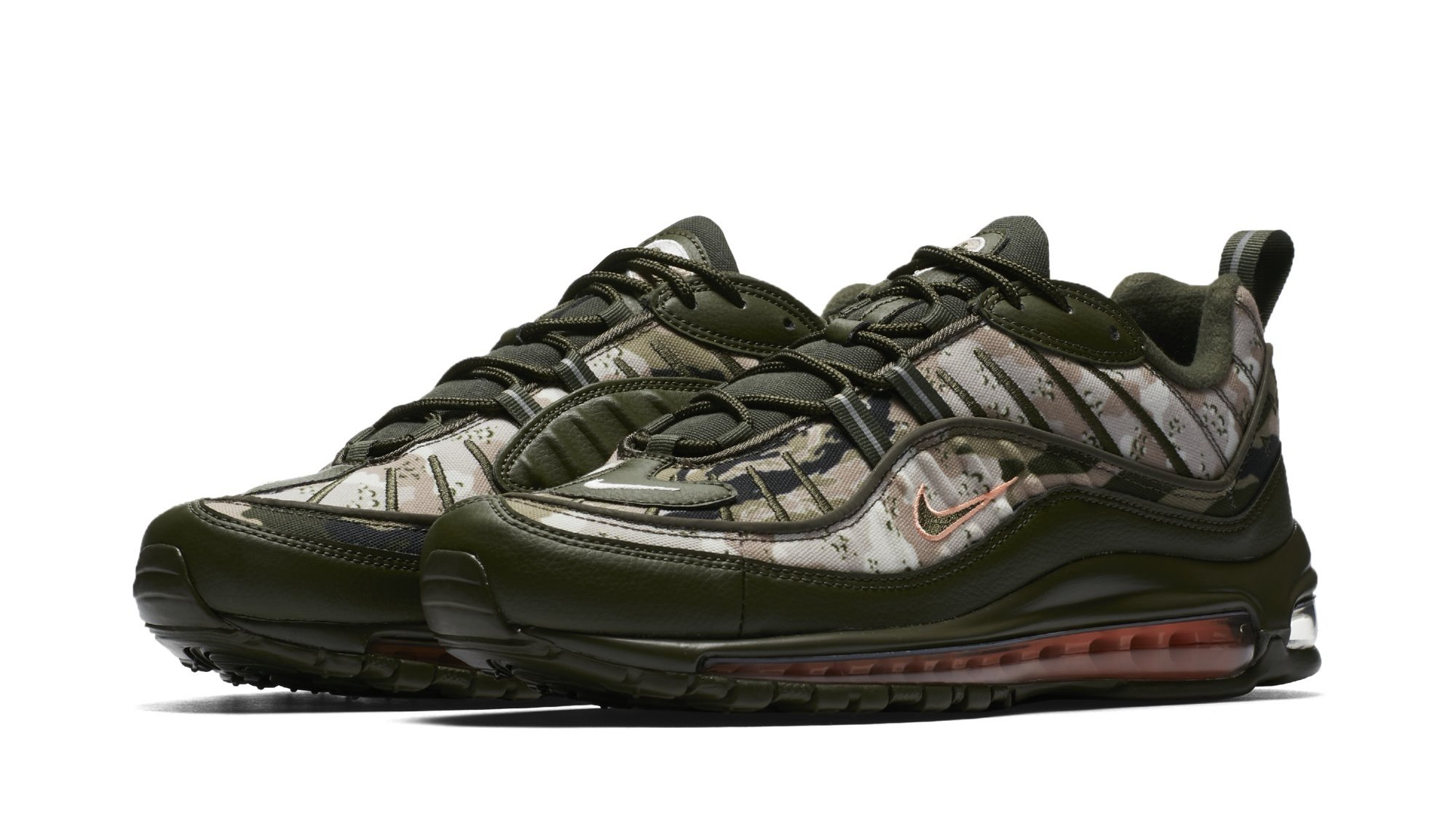 uk availability 46603 7c7fb Camo-Covered Air Max 98s Drop This Weekend