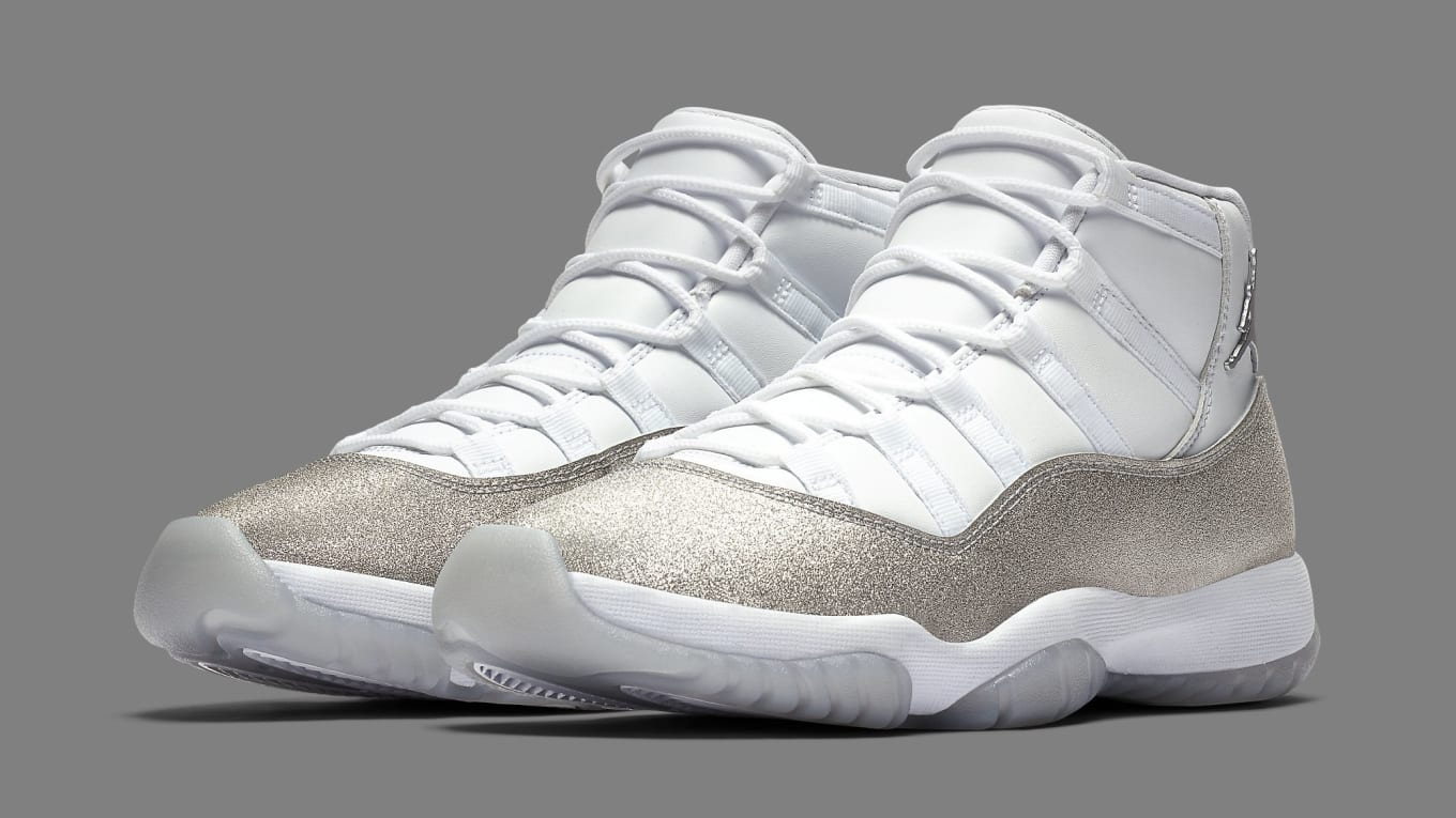 air jordan 11 retro metallic silver glitter
