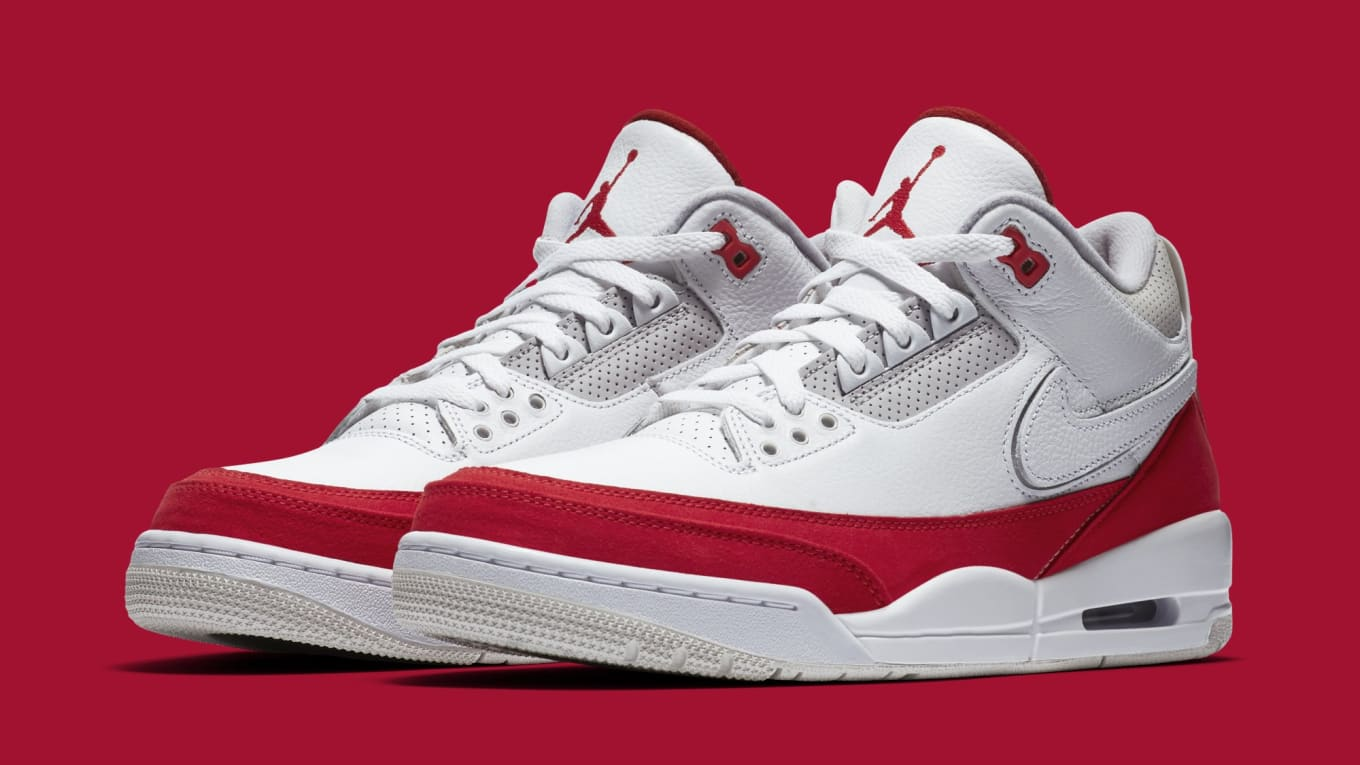 a3451eb99c9aff Air Jordan 3 TH SP  Katrina  White University Red-Neutral Grey ...