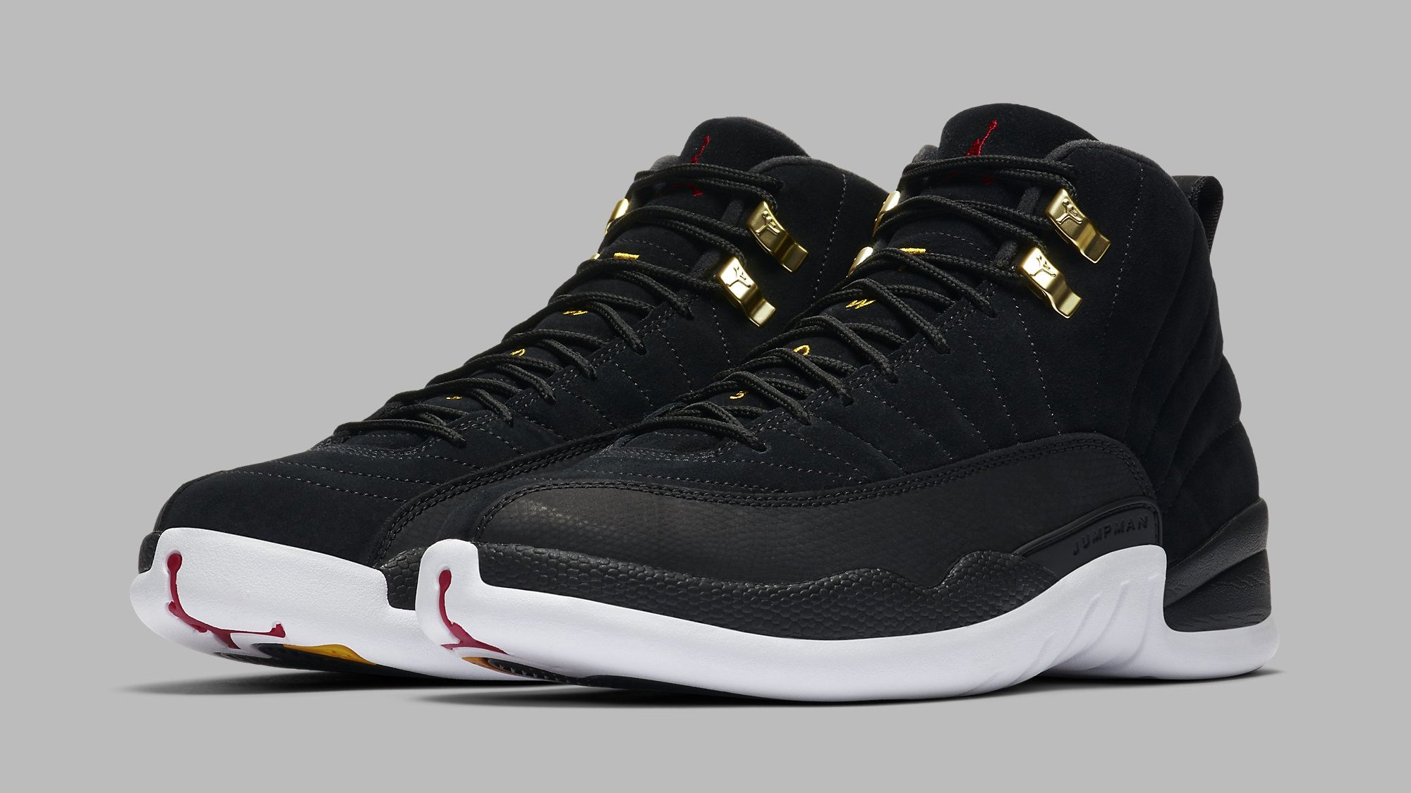 Air Jordan 12 Retro Black White Taxi Black 130690 017 Release