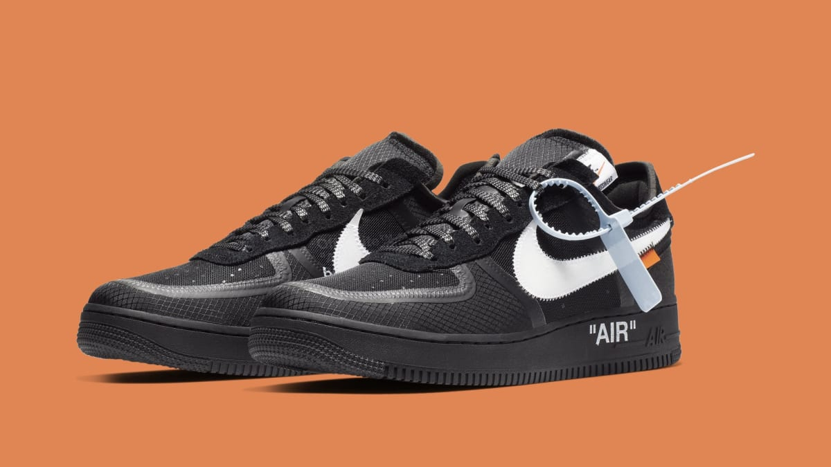 Off White X Nike Air Force 1 Low Black White Ao4606 001
