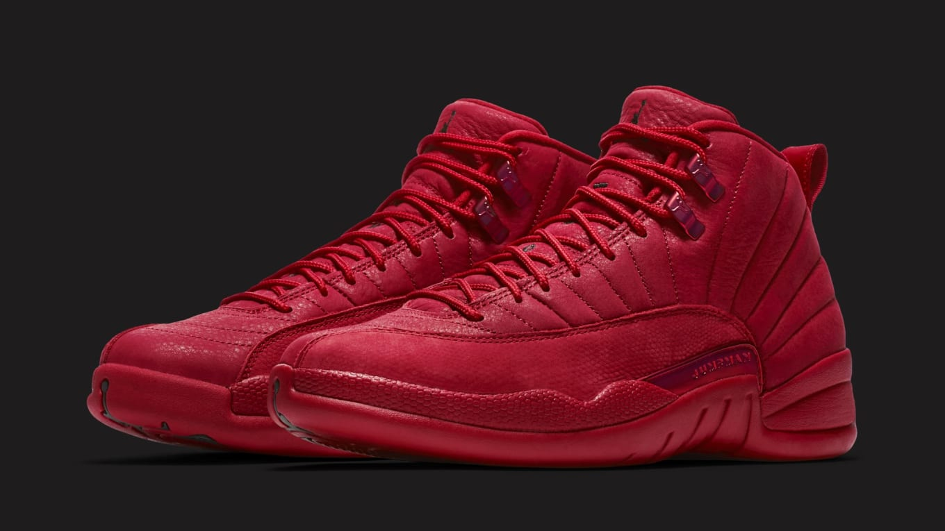 652c528e71073 Detailed Look at the 'Gym Red' Air Jordan 12. Rumored to drop on Black ...