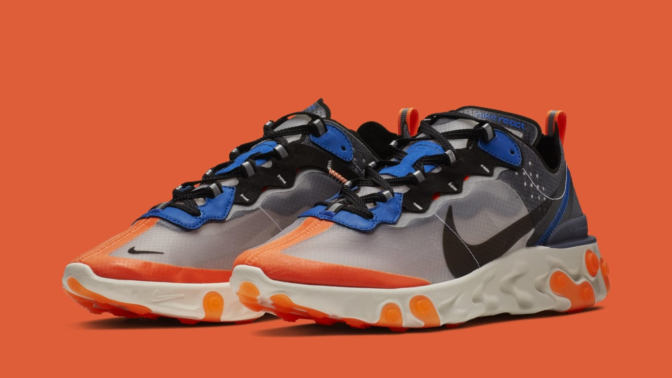 13718deeb5a3 Nike React Element 87  Thunder Blue Total Orange  AQ1090-004 ...