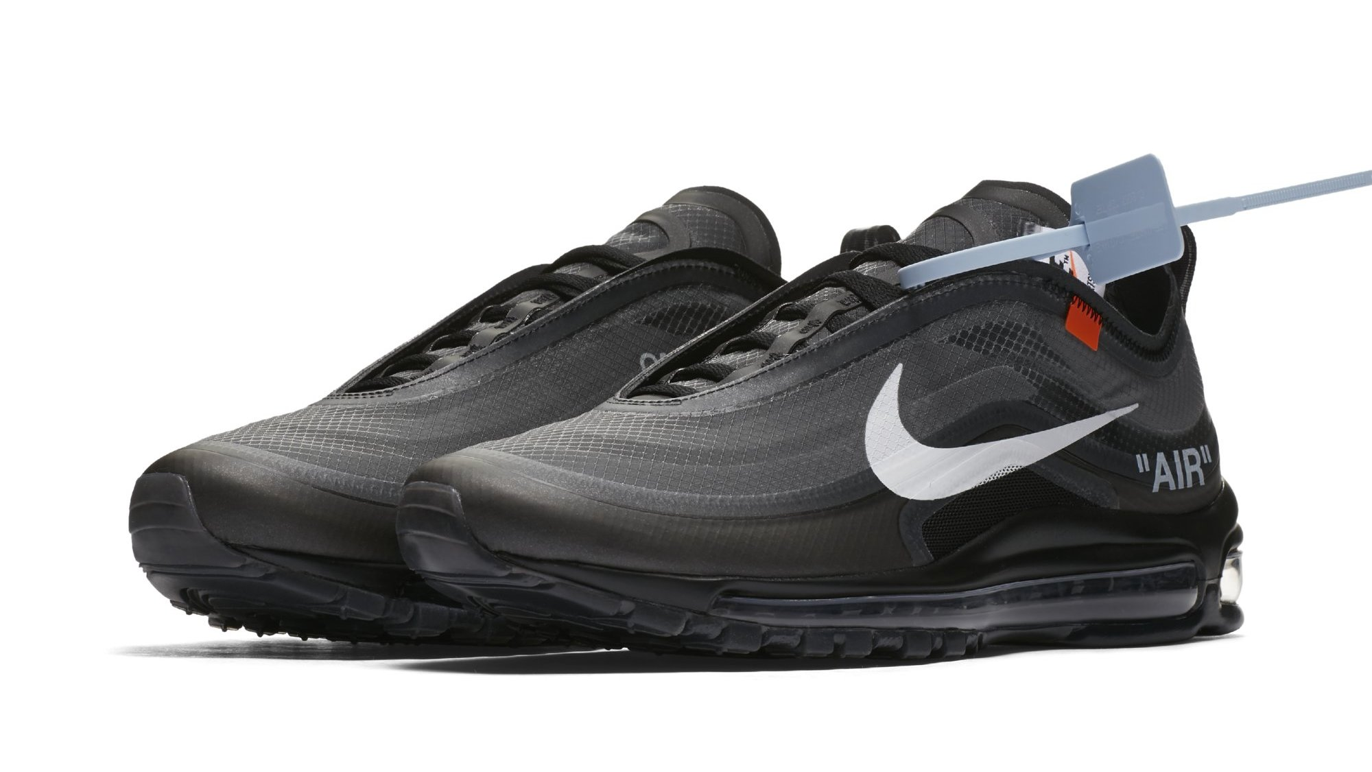 great fit new styles cheap price Off-White x Nike Air Max 97 OG Black/Cone/Black/White AJ4585 ...