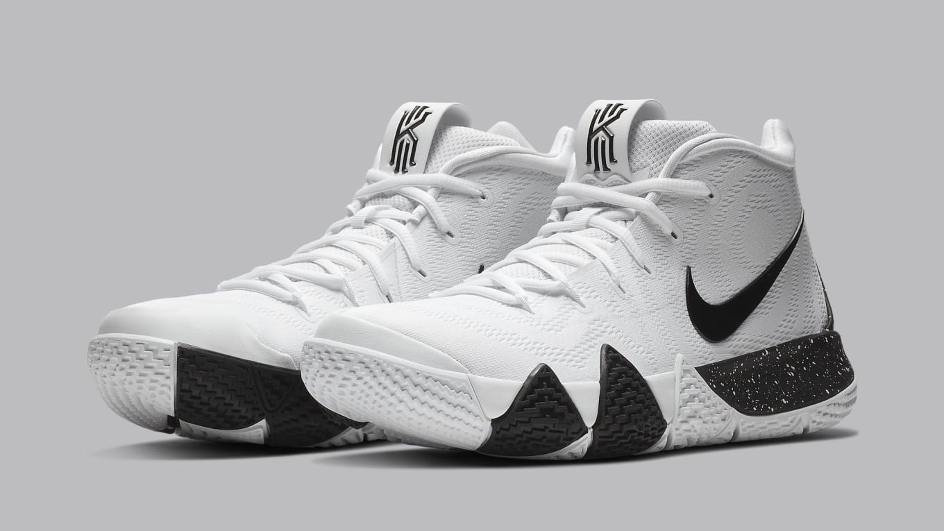 big sale 4b8e7 6c4e8 Nike Kyrie 4 White Black Release Date AV2296-100 | Sole ...