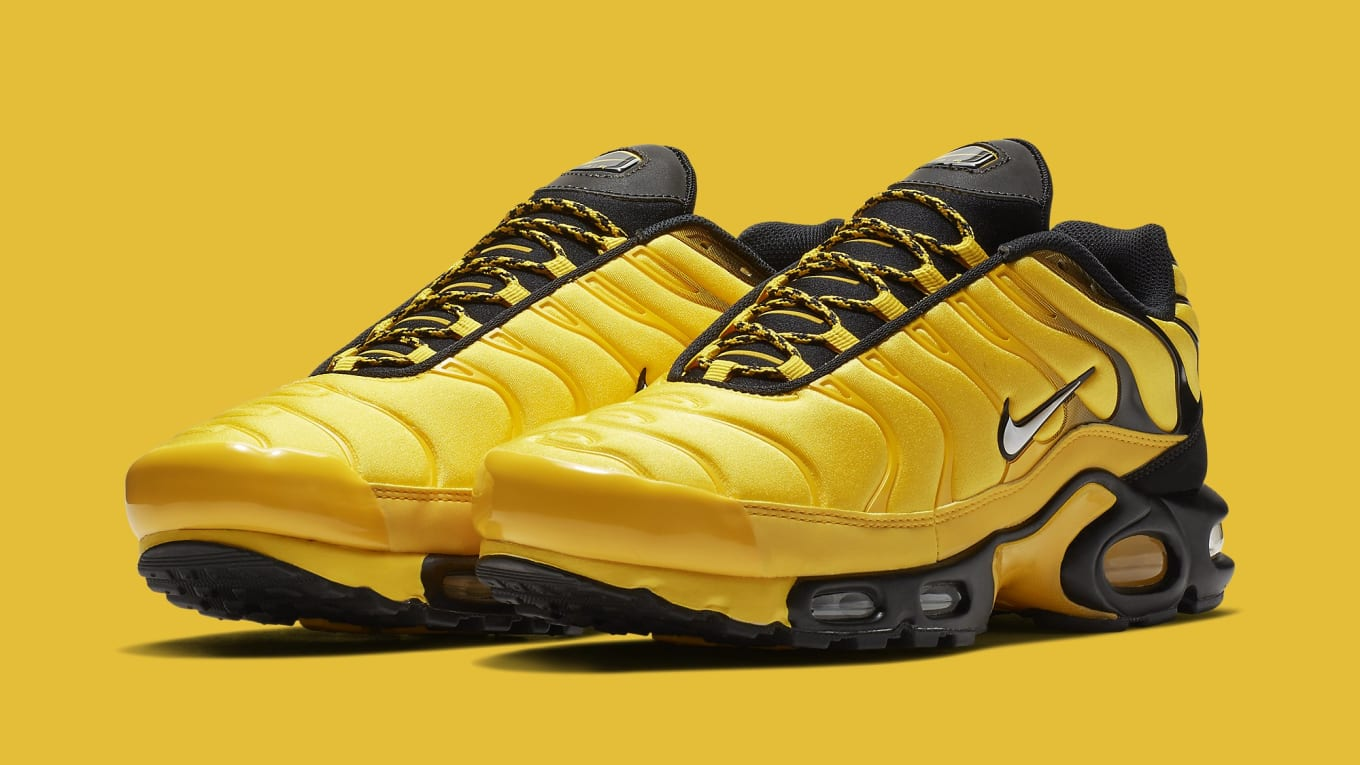 Drake s Favorite Nikes Are Releasing in Bright Yellow. Hip hop-themed Air  Max Plus part of upcoming pack. 8a7fc31ab
