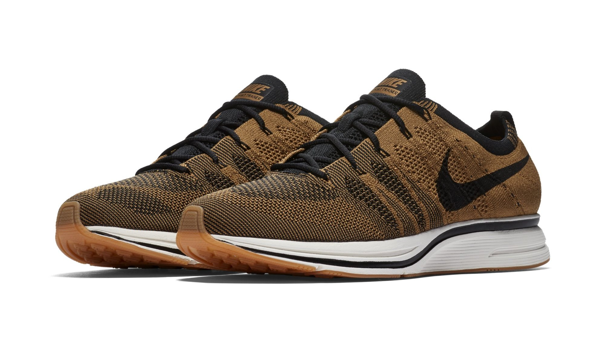 56d23fa013c66 Nike Flyknit Trainer  Golden Beige Black Gum Light Brown  AH8396-203 ...