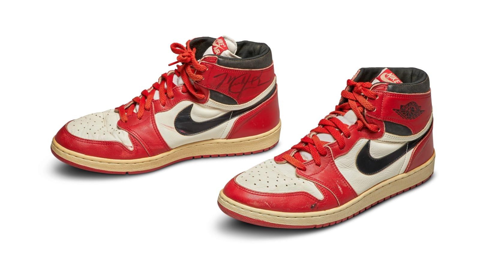 MJ's Game-Worn Air Jordan 1's From 1985 Receive Massive Bids