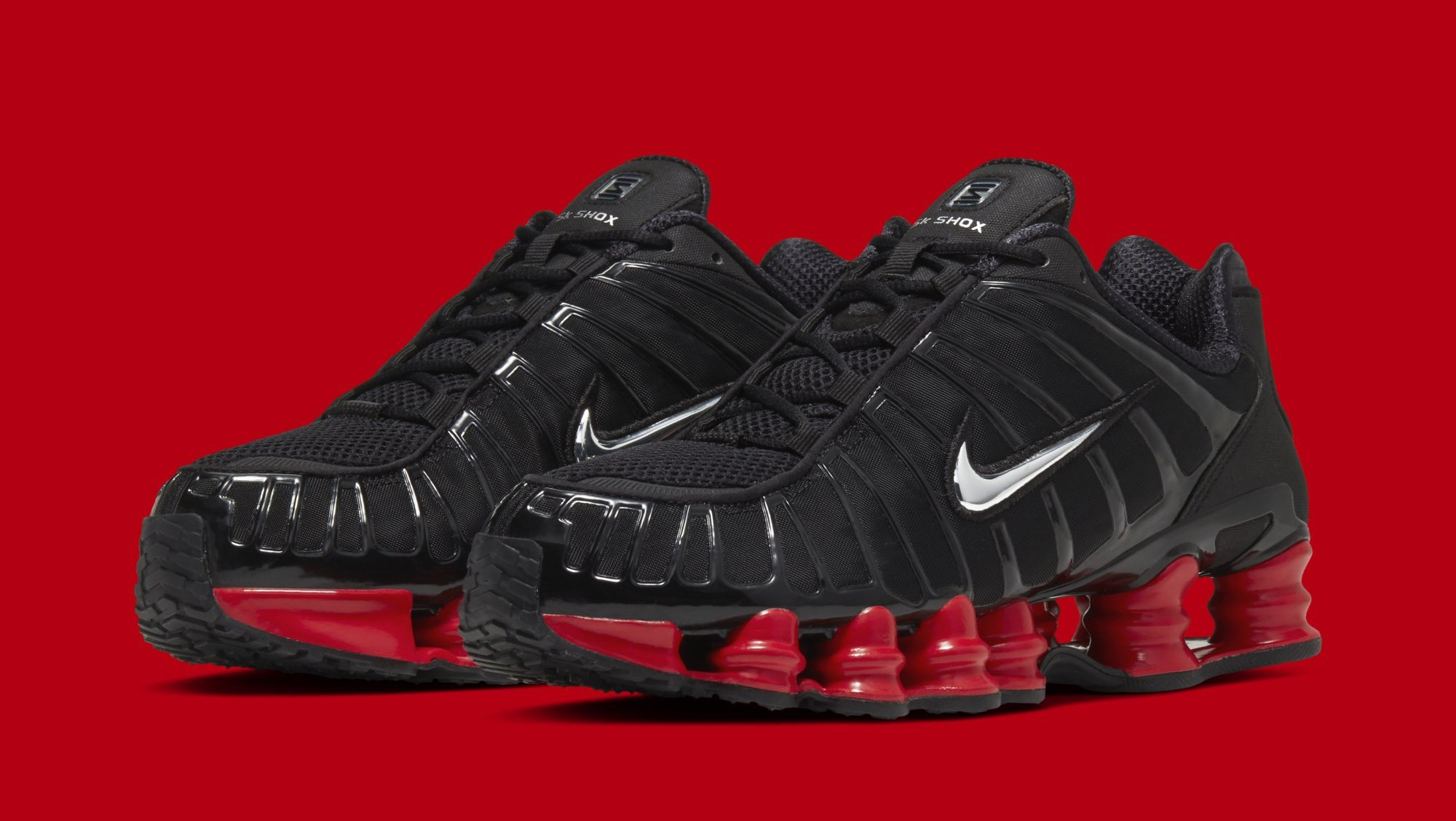 Skepta x Nike Shox TL 'Black/Black-University Red' Release ...