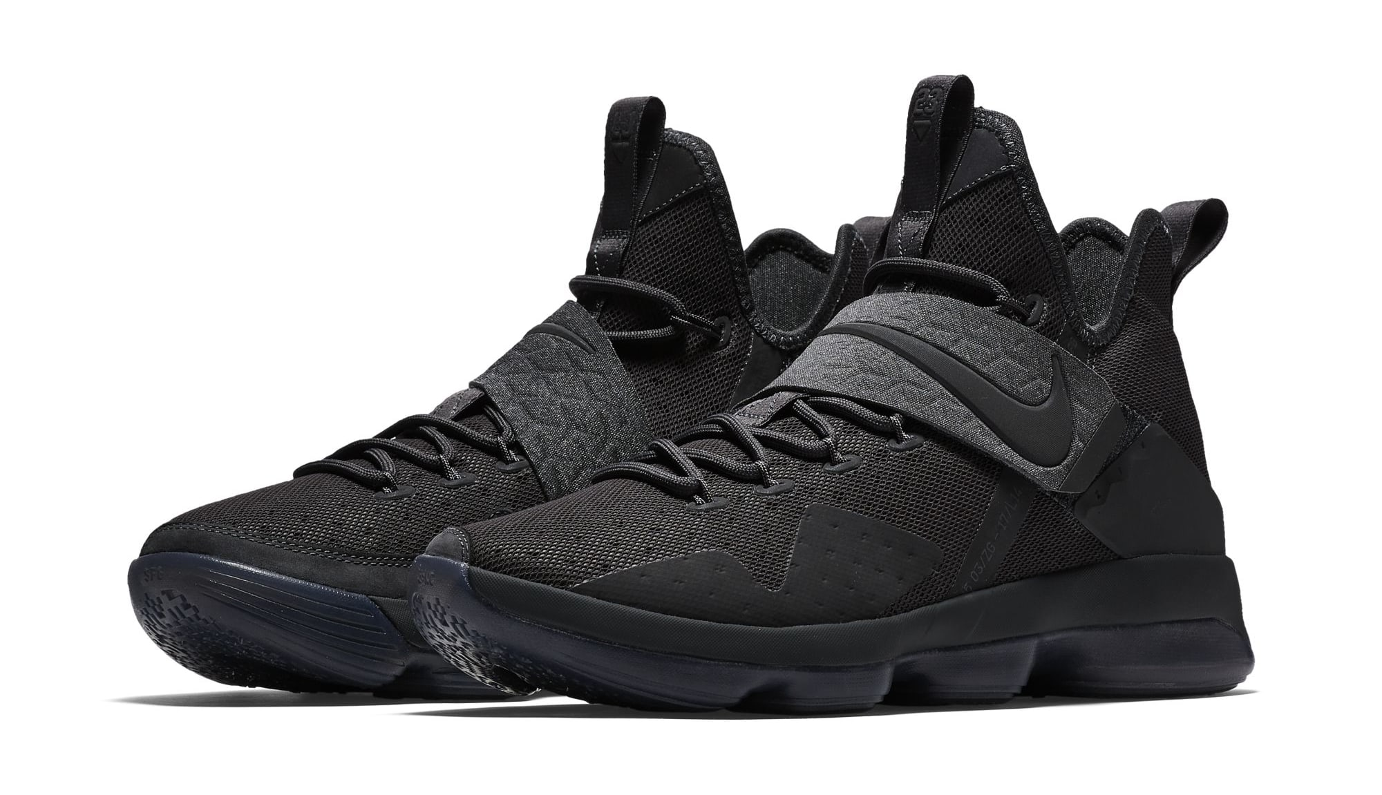 Nike LeBron 14 NBA Shoes LMTD Triple Black/AnthraciteShoes_a0953