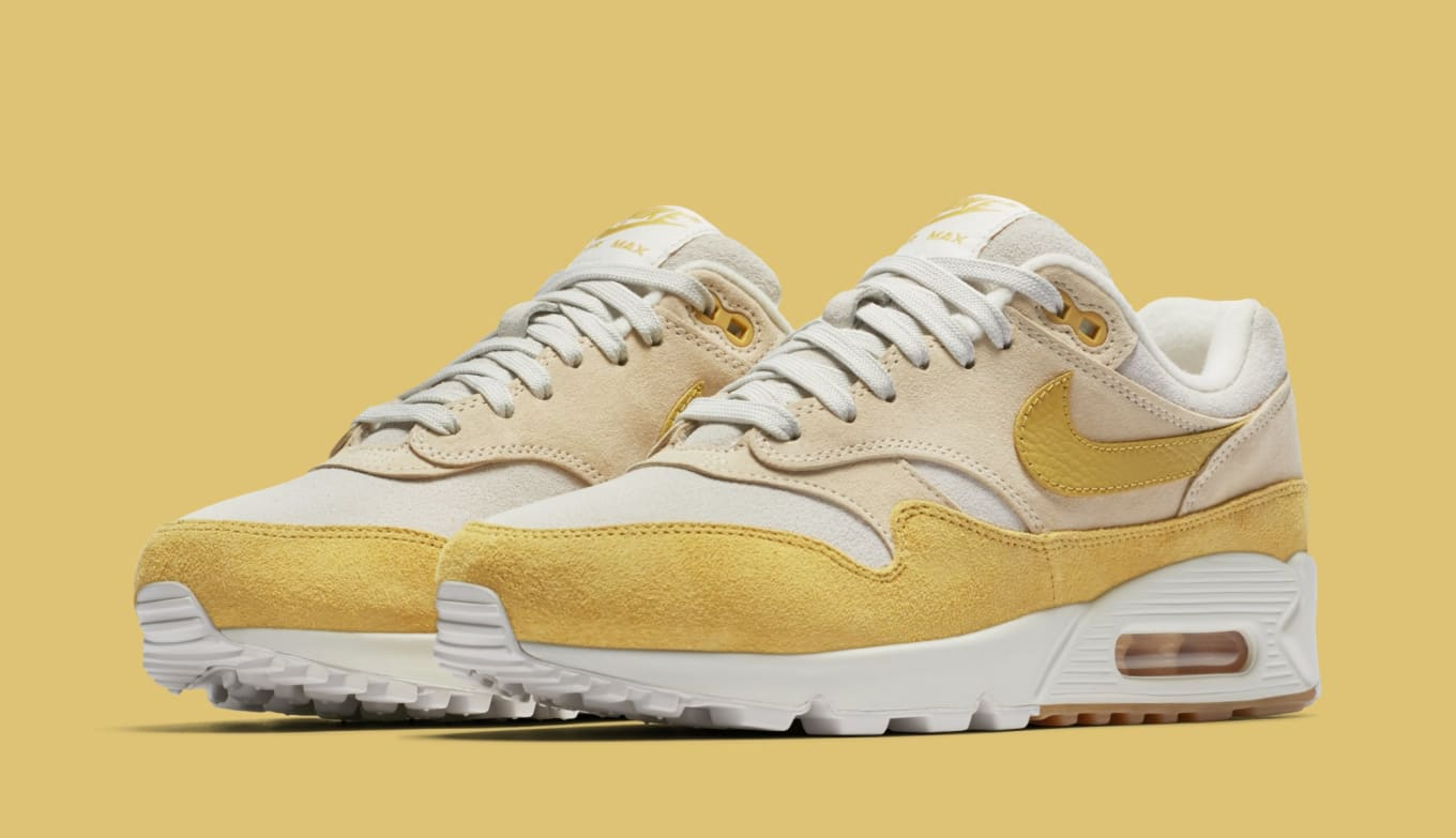 Nike Women s Air Max 90 1 Guava Ice Wheat Gold Summit White AQ1273 ... ead5338e2