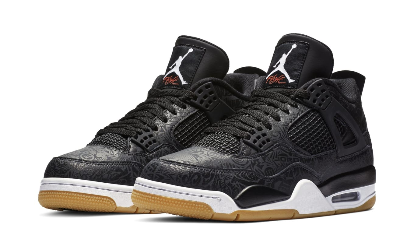 Air Jordan 4 SE Retro  Laser  Black White-Gum Light Brown Release ... de3af9326