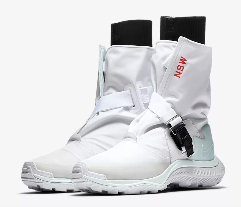 NIKE GAITER Women's Boot - White/Black/Pure Platinum/Barely Green