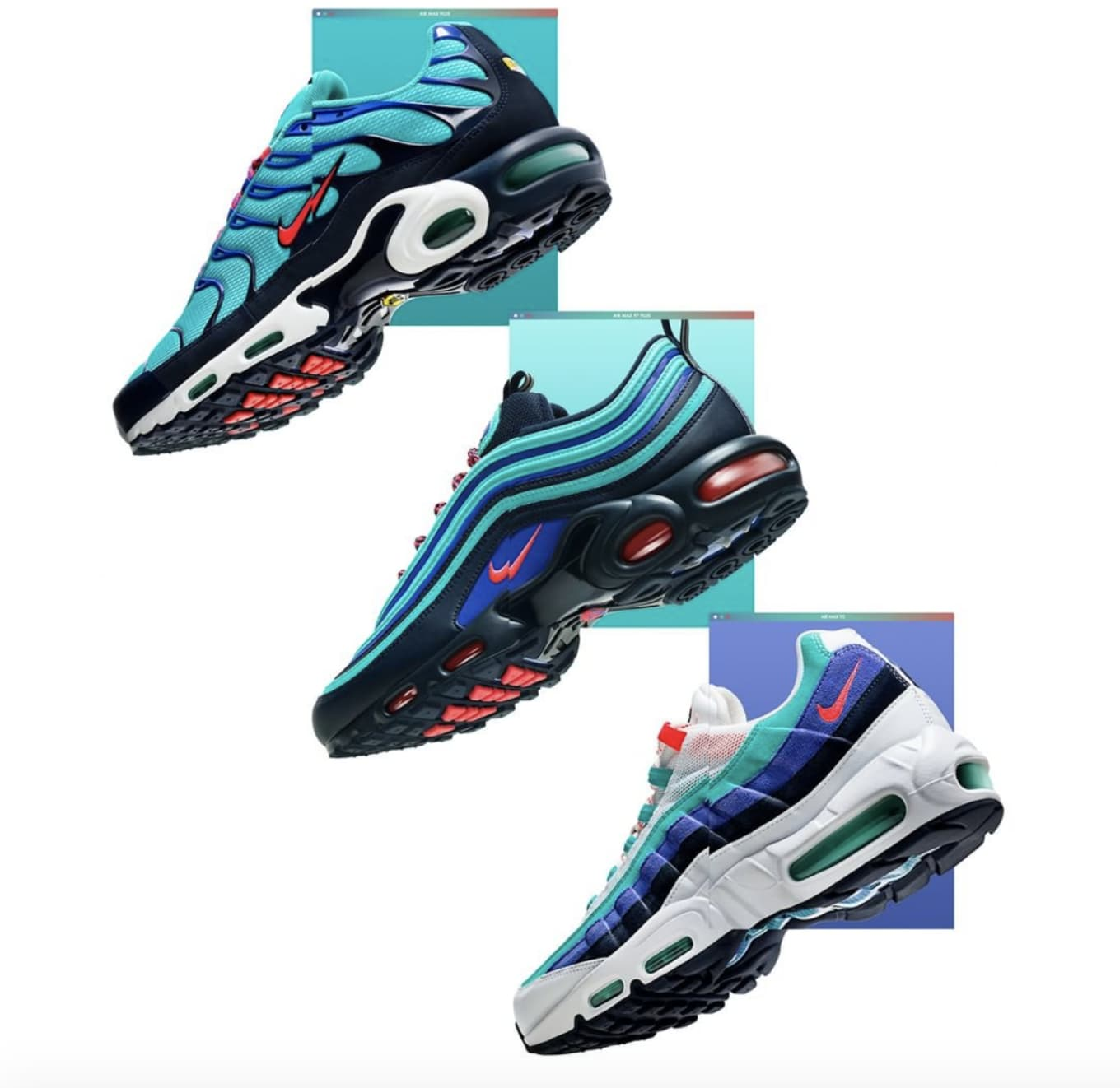 262600ff3af6 Nike Air Max Plus Air Max Plus 97 Air Max 95  Discover Your Air ...