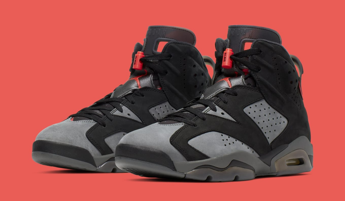 promo code 5e558 11bb2 Air Jordan 6 Retro 'PSG' Iron Grey/Infrared 23-Black CI4072 ...