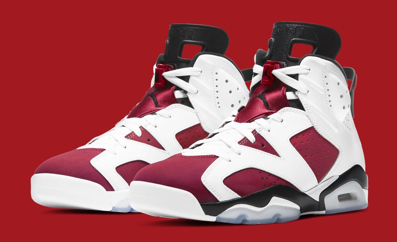 Christmas Jordans 2021 Air Jordan 6 Retro Carmine 2021 Release Date Ct8529 106 Sole Collector