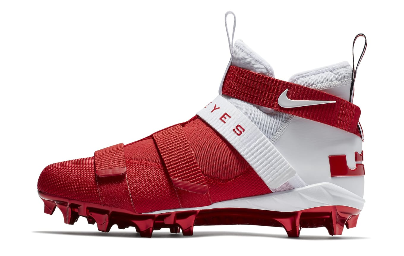 dd802f801a8 Nike LeBron Soldier 11 College Cleats Ohio State Release Date ...