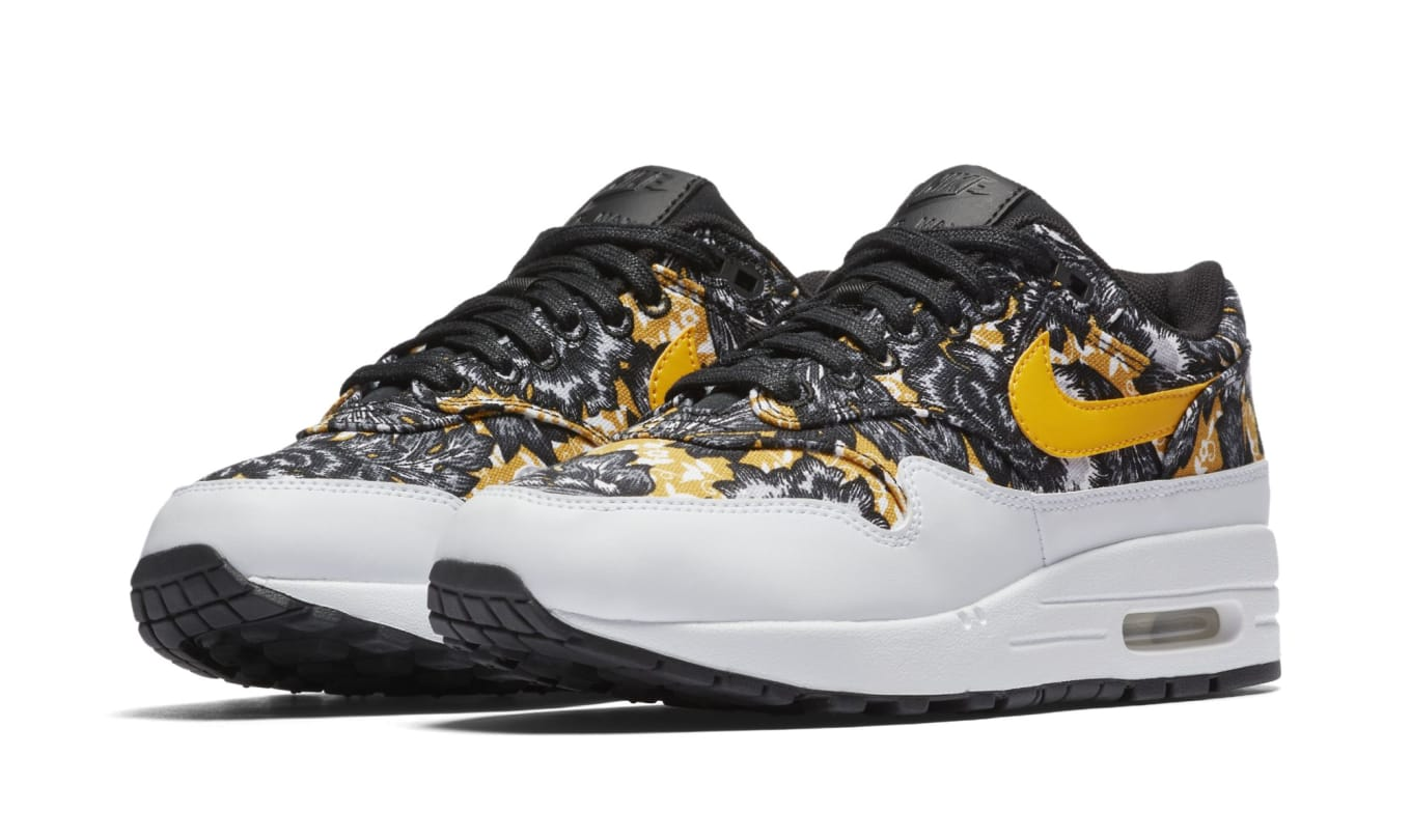 5b7cfe406d05 WMNS Nike Air Max 1 Floral  White University Gold-Black  Images ...