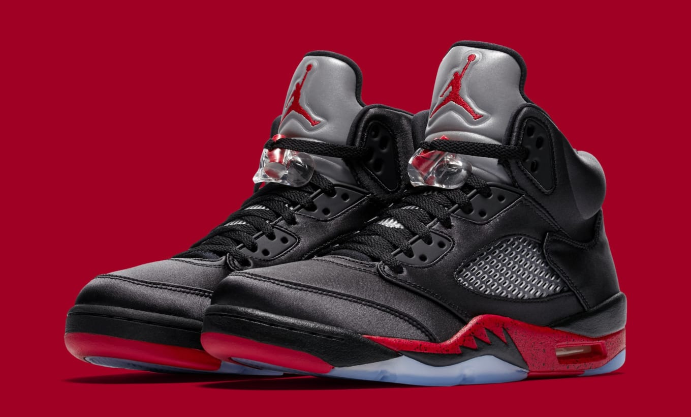brand new 38444 92373 Air Jordan 5 'Black/University Red' Release Date | Sole ...