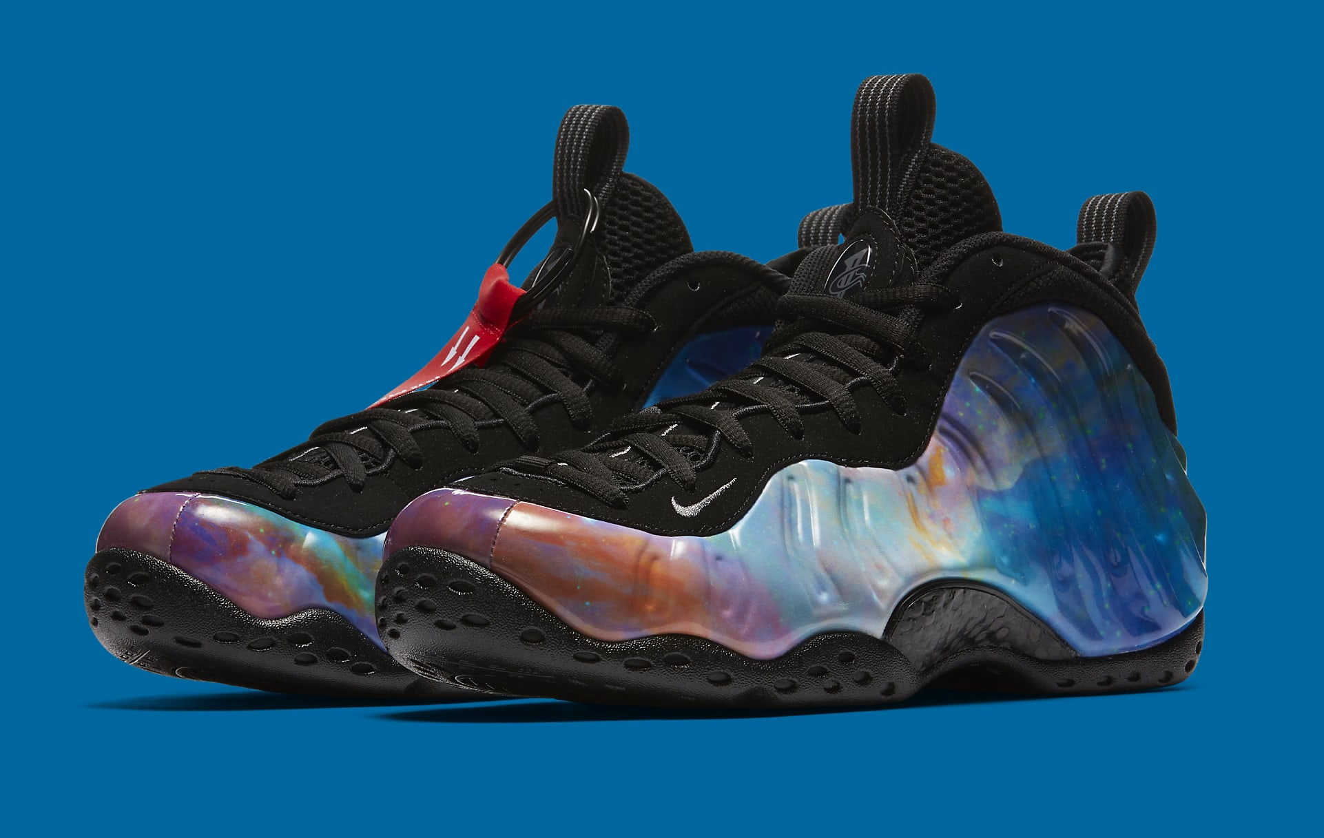 Shop Discount Nike Foamposite One Red Blue Black