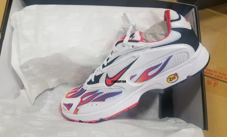 c2ee1eacfe804 Supreme x Nike Zoom Streak Spectrum Plus  White Habanero Red-Black ...