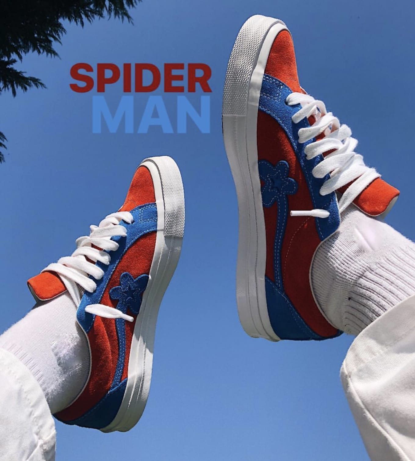 88b65bf47389 Tyler the Creator x Converse Golf le Fleur Blue Red  Spider-Man ...