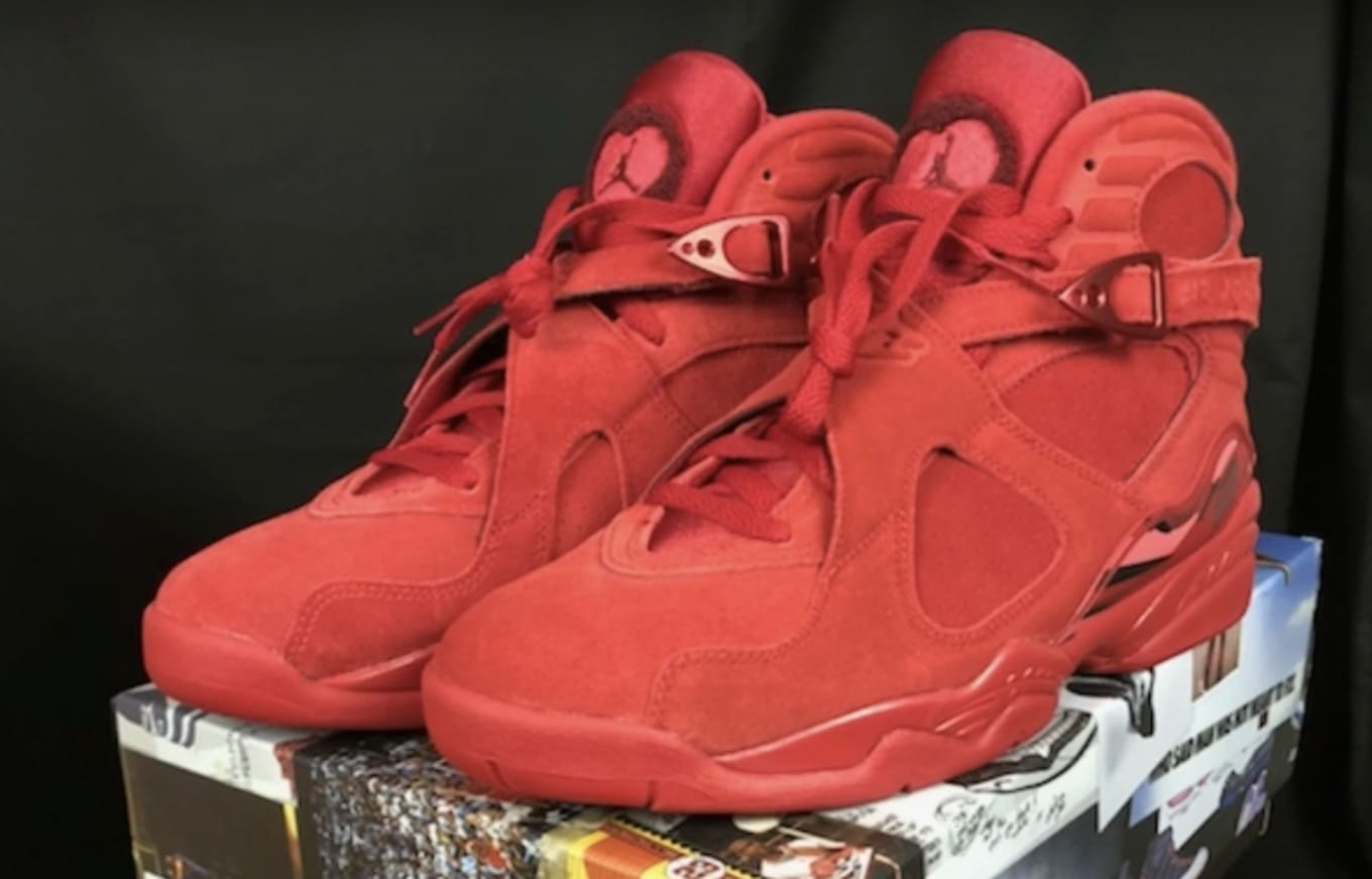 41c1d1533abe WMNS Air Jordan 8  Valentine s Day  Gym Red Ember Glow-Team Red ...
