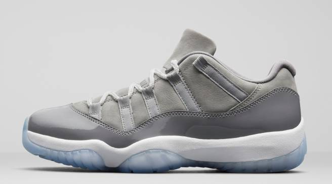 low priced 2cee5 dde5e  Cool Grey  Air Jordan 11 Lows Drop This Month