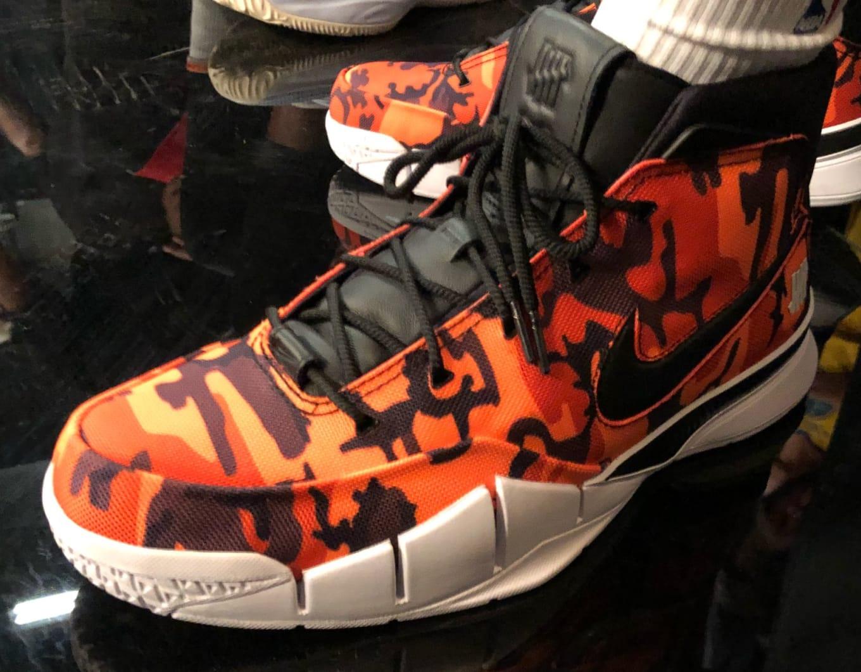 Devin Booker Undefeated x Nike Zoom Kobe 1 Protro Orange  aed82fee471c