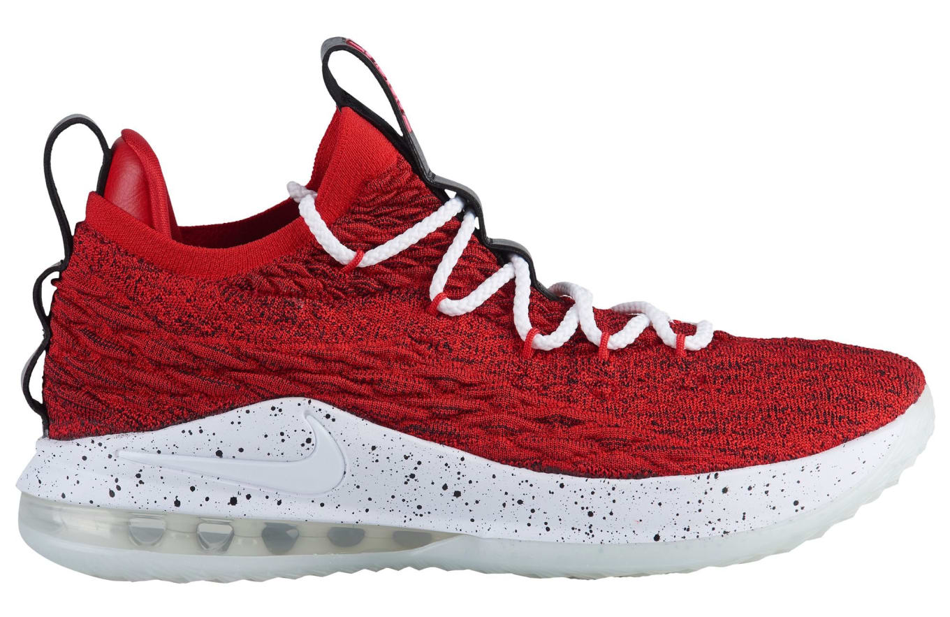 209482b6a6e Nike LeBron 15 XV Low University Red Release Date AO1755-600
