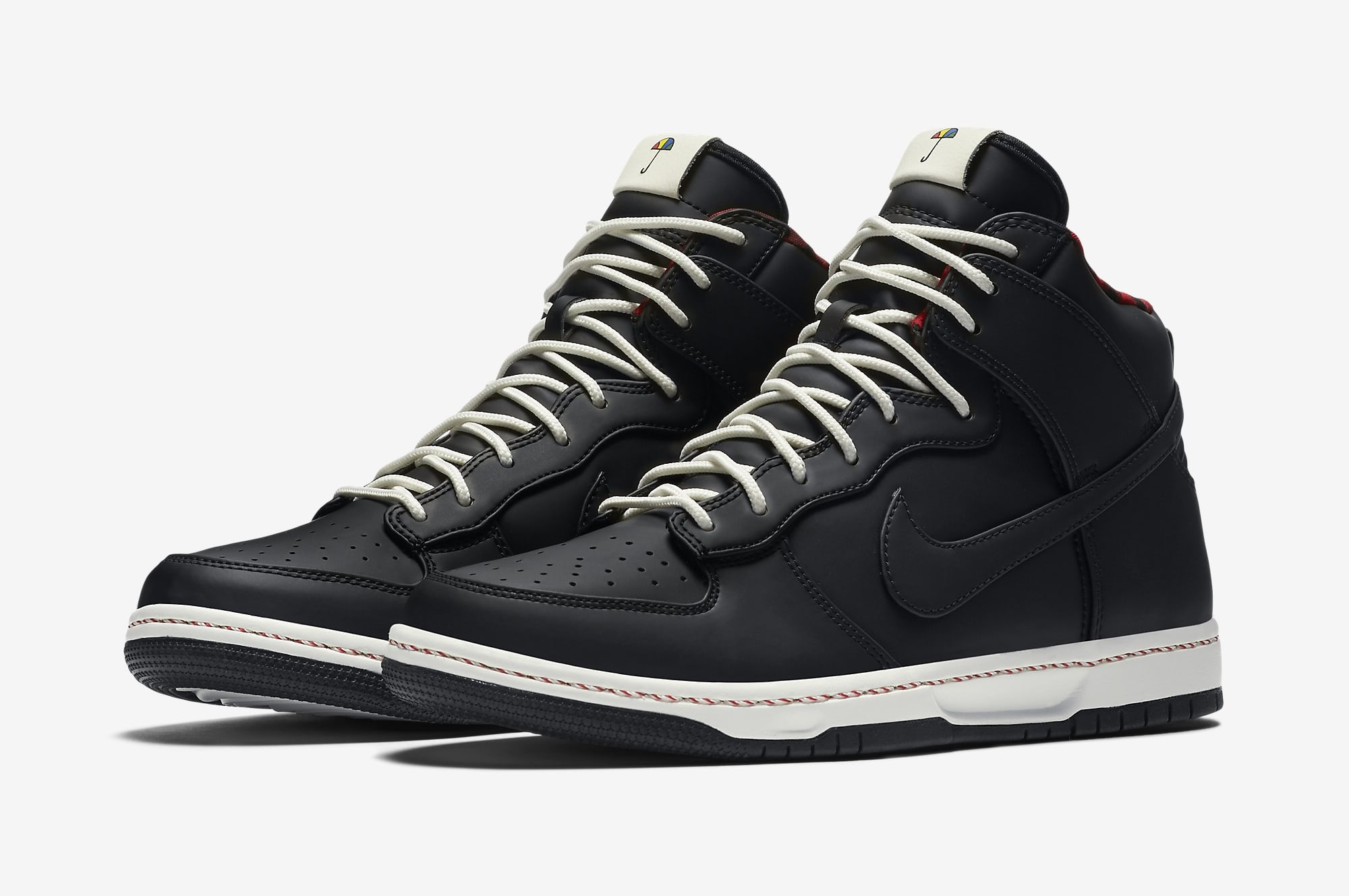 SB DUNK ANKLE SHOES BLACK WHITE SNEAKER