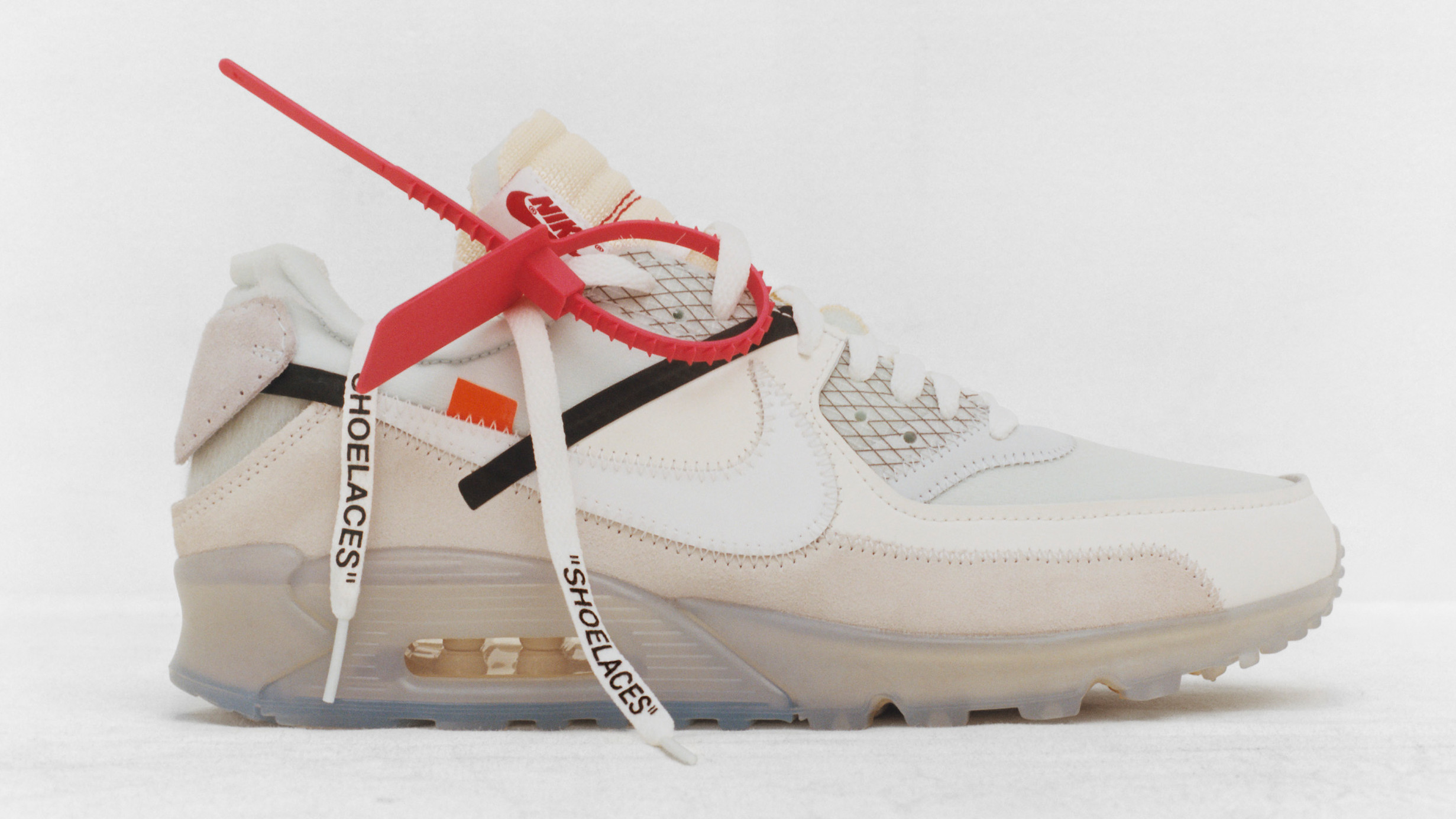 online store a4ca2 6a1d6 Off-White x Nike Air Max 90  University Red Team Orange  AA7293-600 Release  Date   Sole Collector