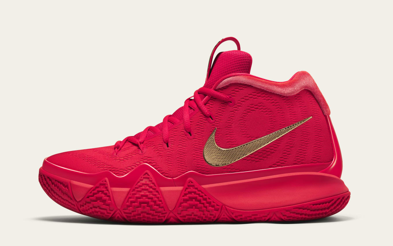 98516b6b550e Nike Kyrie 4  Red Carpet  Facebook Messenger Release Date