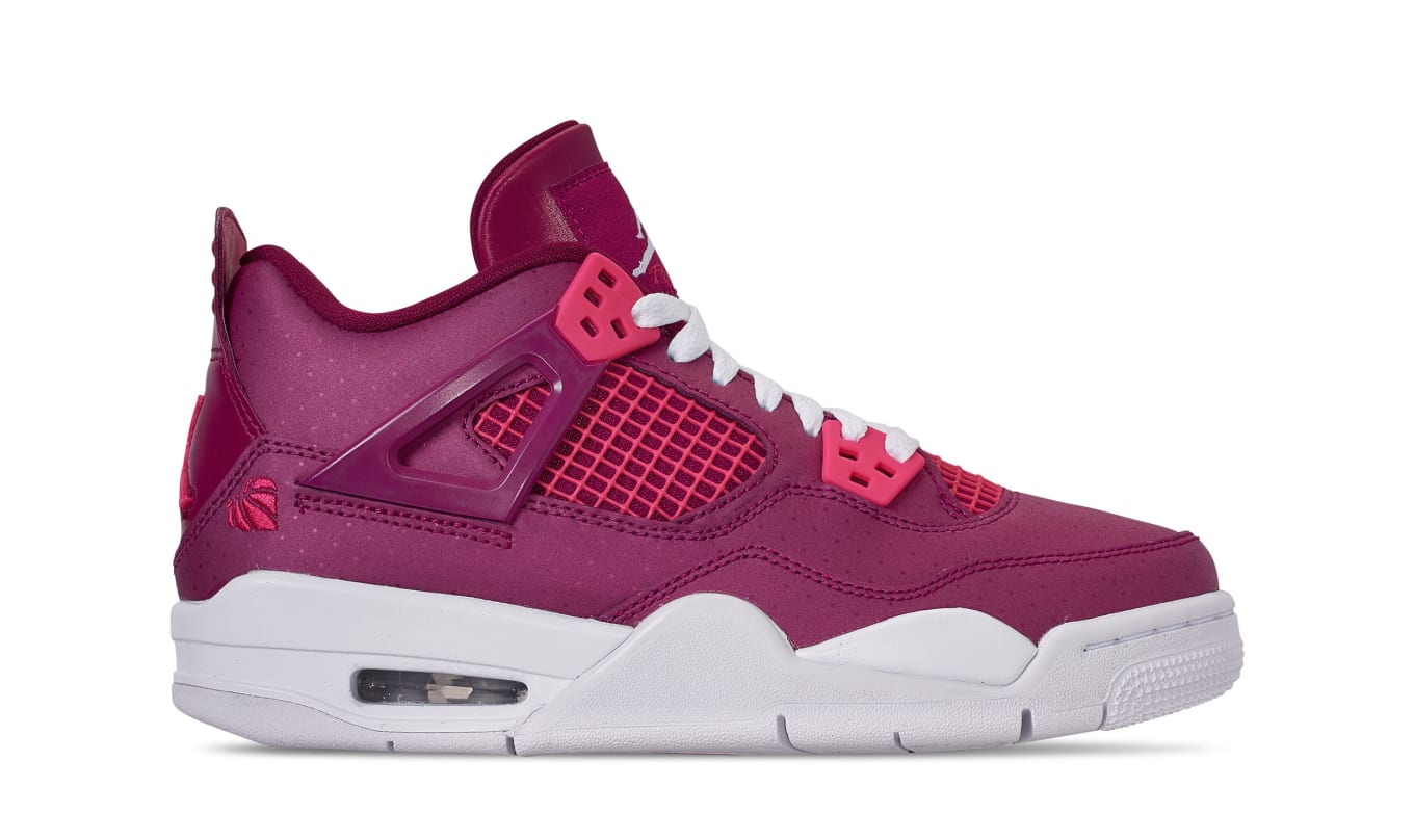 54221aae67dc Air Jordan 4 Retro GS  Valentine s Day  True Berry Rush Pink White ...