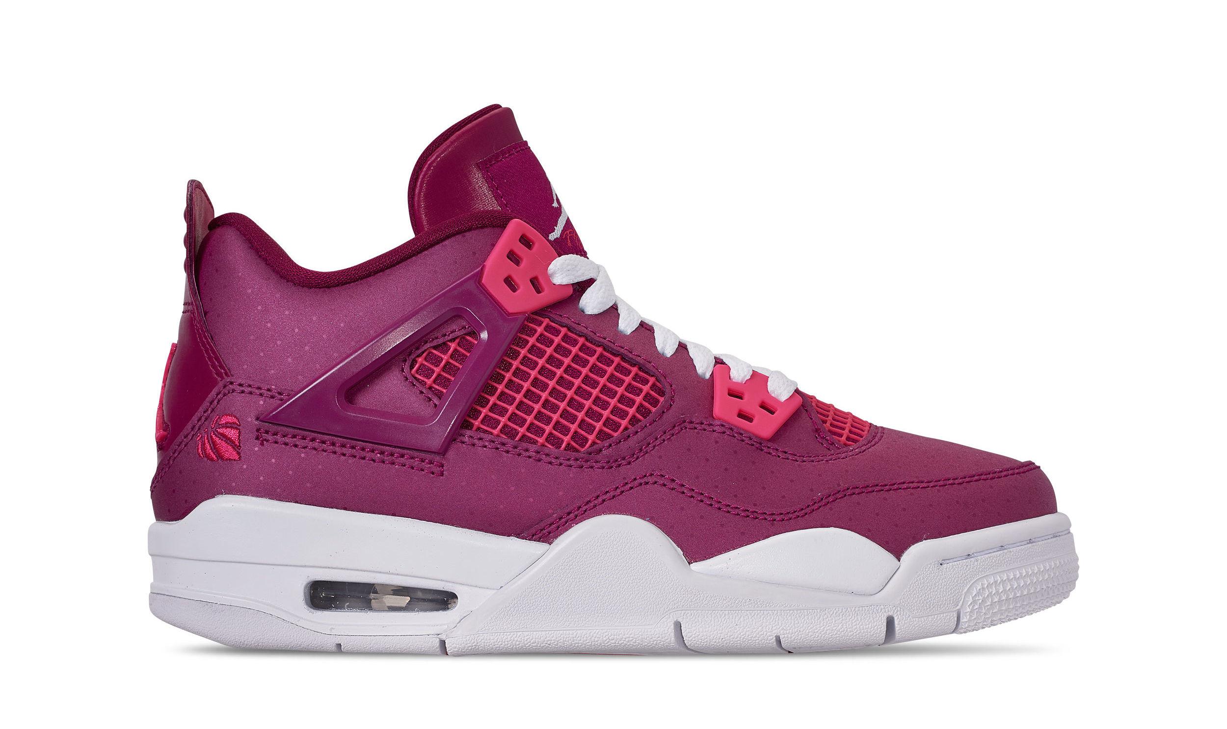 dbb862e4218998 Air Jordan 4 Retro GS  Valentine s Day  True Berry Rush Pink White  487724-661 Release Date