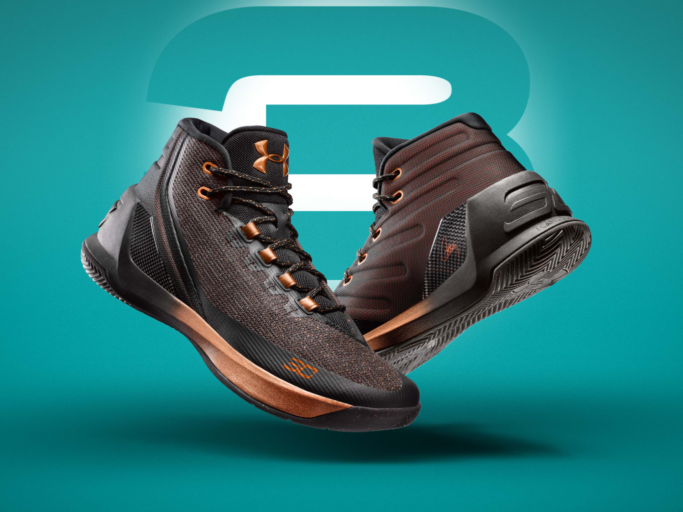 bf1ea7cf203 Under Armour Curry 3s in high and low top.