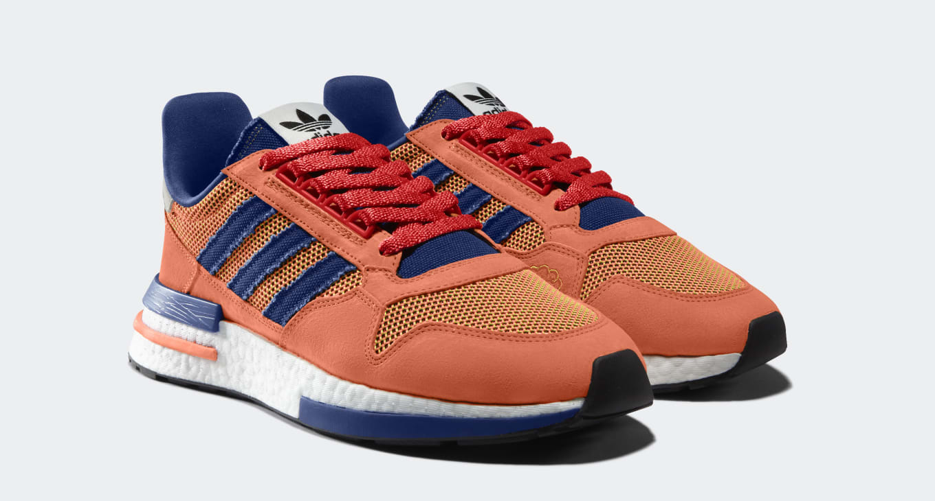 ac1dfb208cf96 Adidas  First Dragon Ball Z Sneakers Drop This Month. The  Son Goku  ZX 500  RM ...