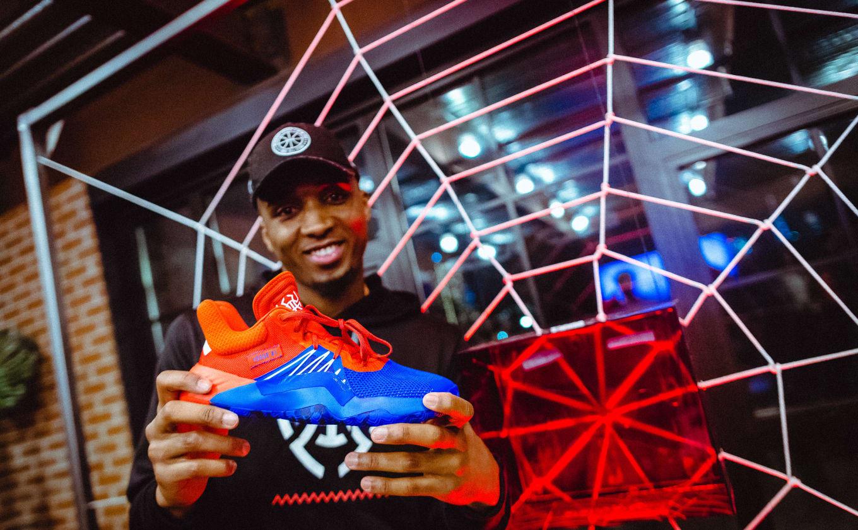 wholesale dealer e15e9 c0652 Donovan Mitchell Unveils First Adidas Signature Sneaker