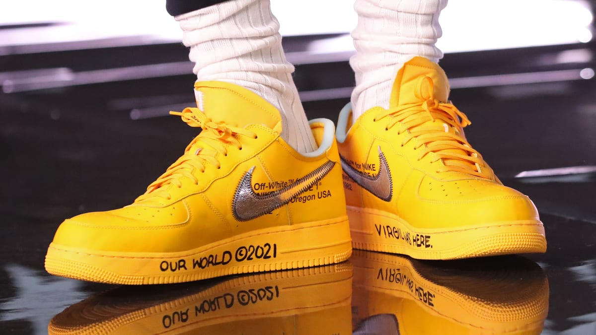 Virgil Abloh Gifts LeBron James Unreleased 'Yellow' Off-White Air Force 1s