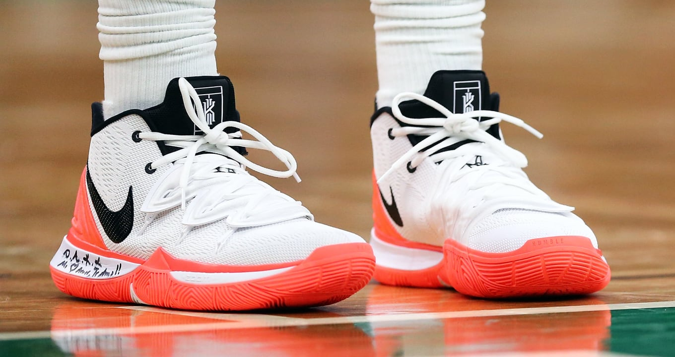 sports shoes 0aa58 34f48 Kyrie Irving Debuts Tennis-Inspired Nike Kyrie 5 PE   Sole Collector