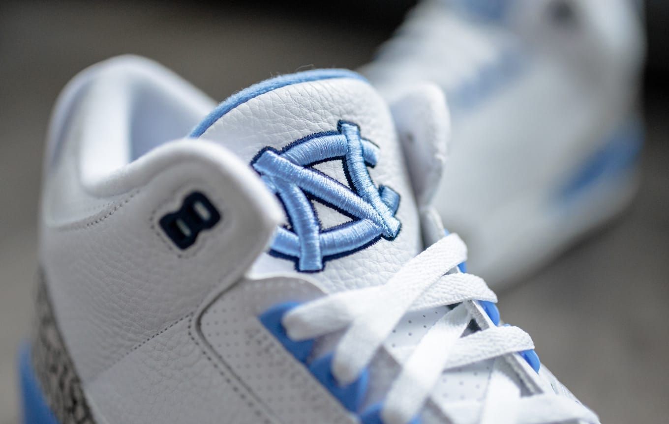 f5c39afe9e0 UNC Tar Heels Air Jordan 3 PE Detailed Look
