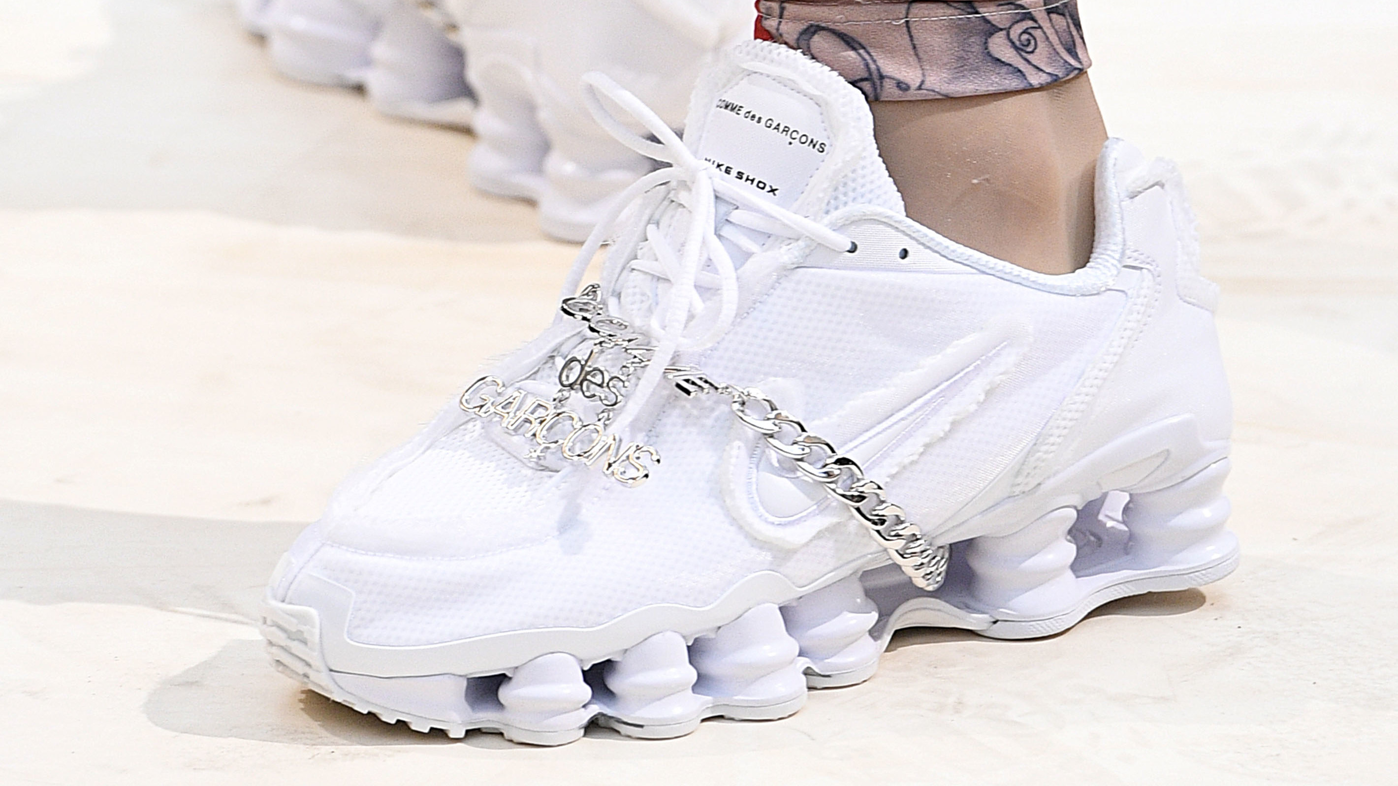 cfb003be097 Comme des Garcons x Nike Shox Debuts During Paris Fashion Week
