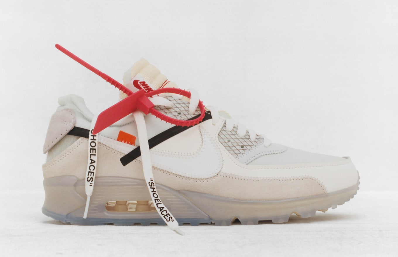 nike air max 90 x off white red