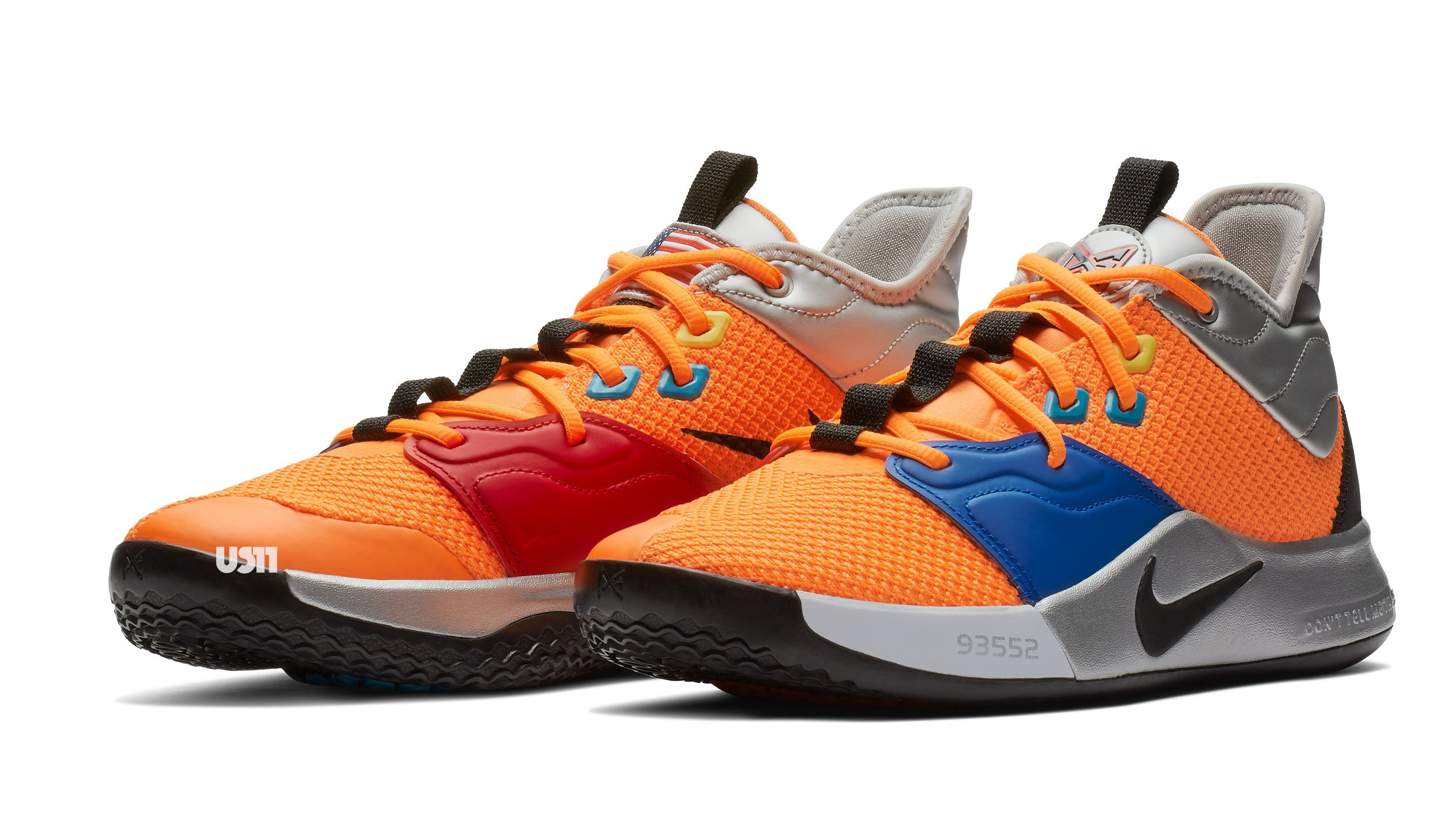 6d6db43e01a Nike PG 3  NASA  Total Orange Black-Metallic Silver Release Date ...