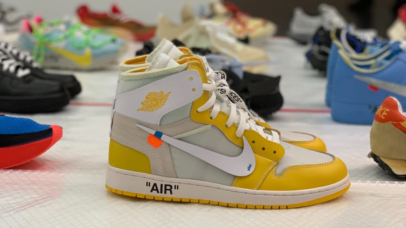 check out 57d60 4d255 Virgil Abloh Is Displaying Off-White x Nike Samples at MCA ...