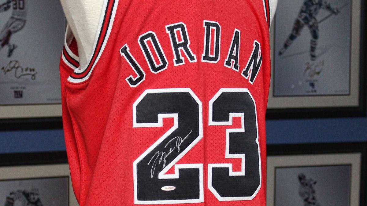 signed jordan jersey