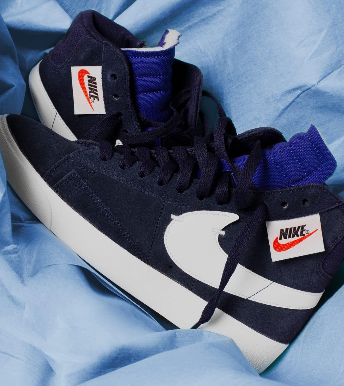 84e5d62da020d Nike Blazer Mid Rebel  Blackened Blue  John Elliott Exclusive ...