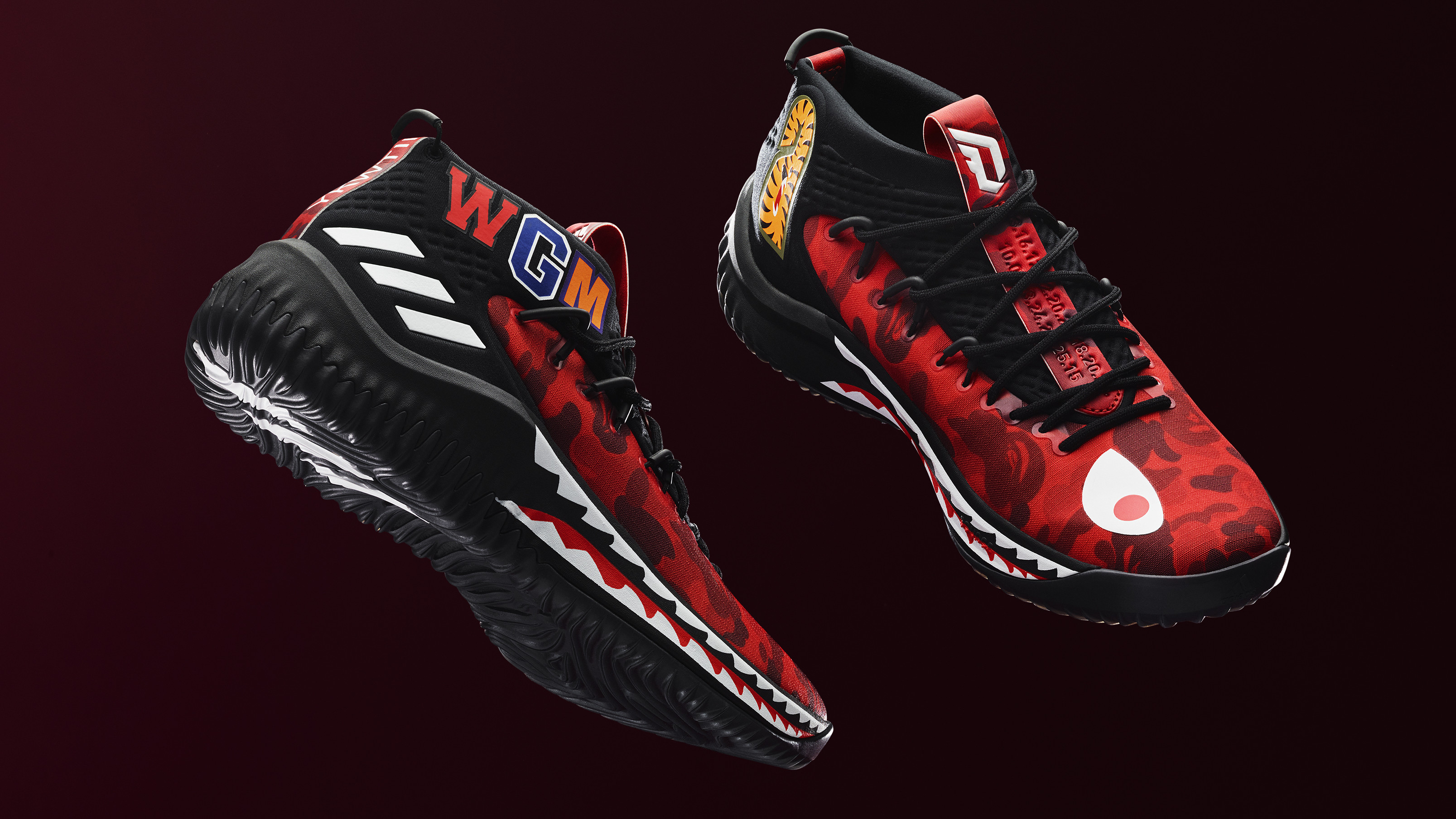 timeless design a7b42 9565f Adidas Dame 4 x Bape Releasing in Red on Feb. 16, 2018.  Sol