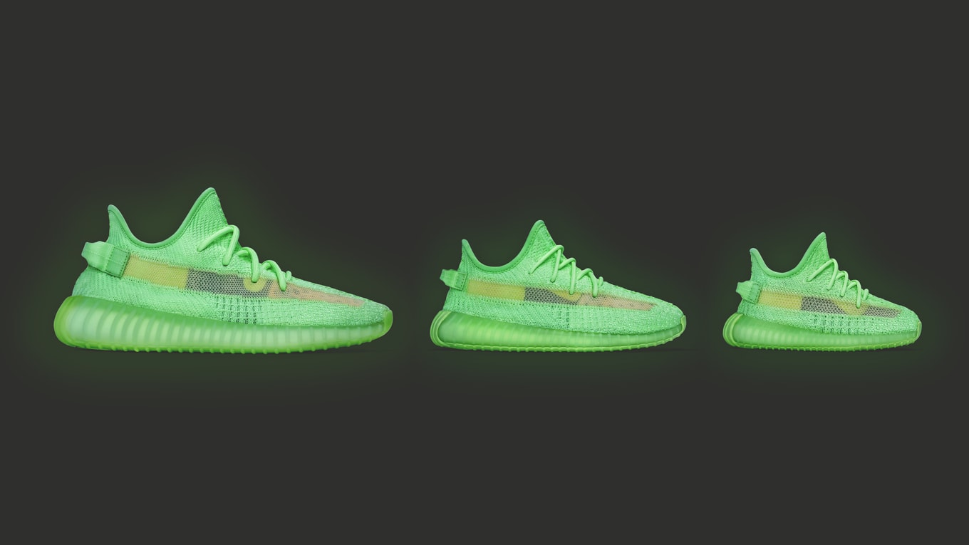 c30a1009 Adidas Yeezy Boost 350 V2 'Glow in the Dark' Release Date | Sole ...