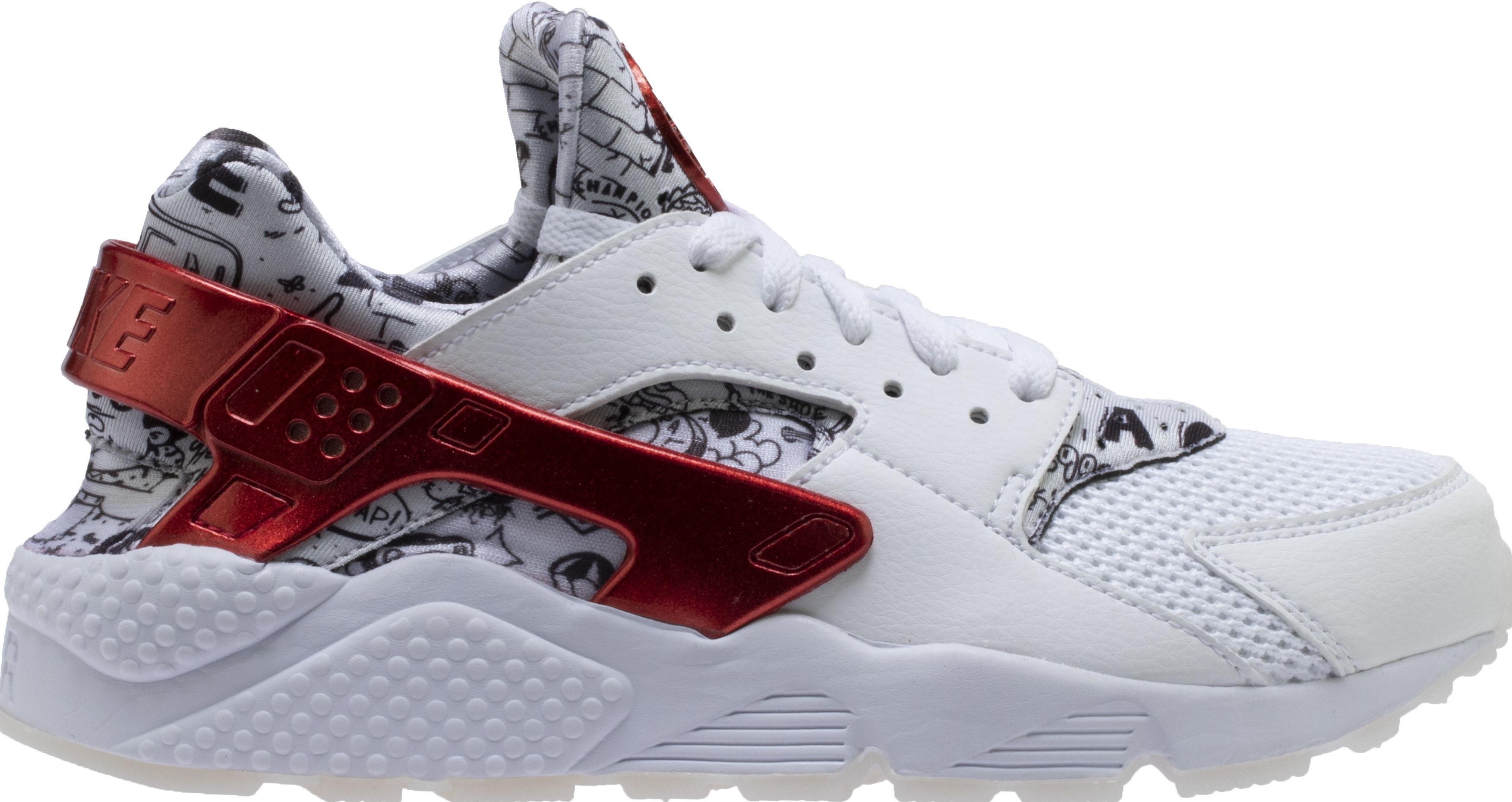 a45cf021c1978 Shoe Palace x Nike Air Huarache White Red Platinum  Joonbug  AJ5578-101  Release Date